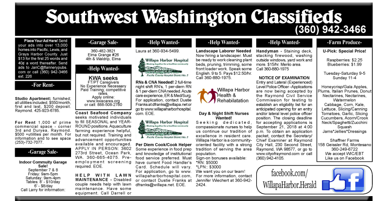Classifieds 9.5.18