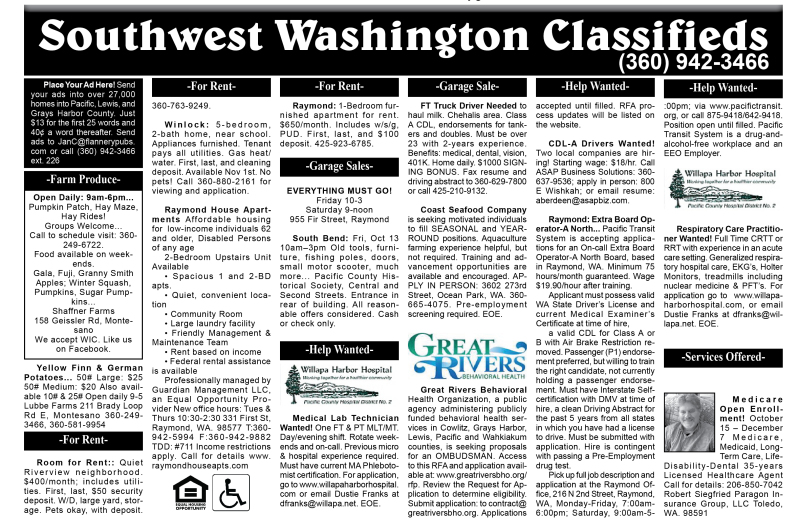 Classifieds 10.11.17