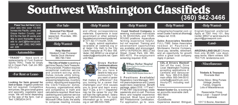 Classifieds 12.20.17
