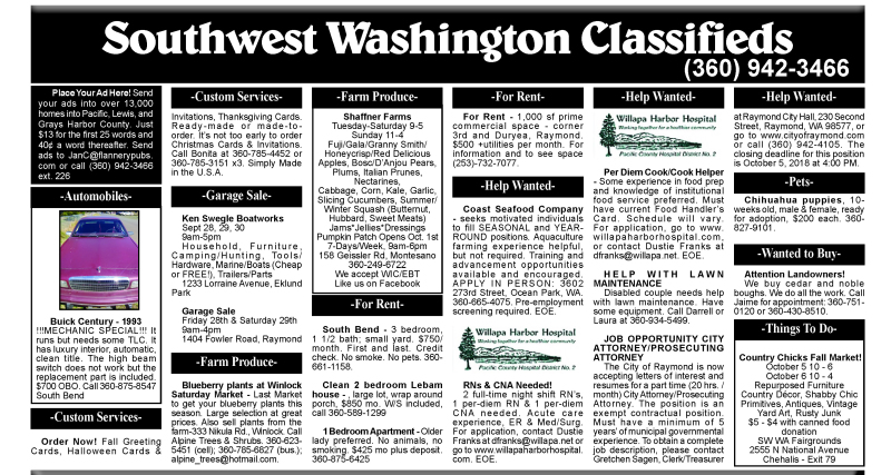 Classifieds 9.26.18