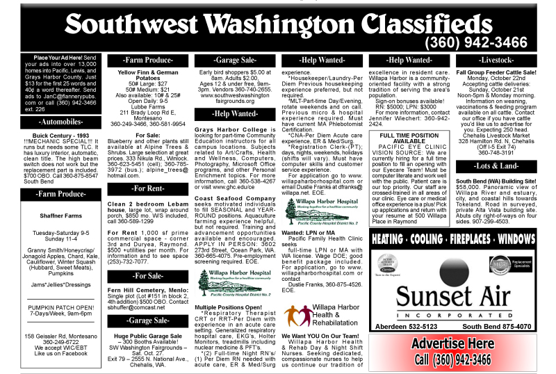 Classifieds 10.17.18