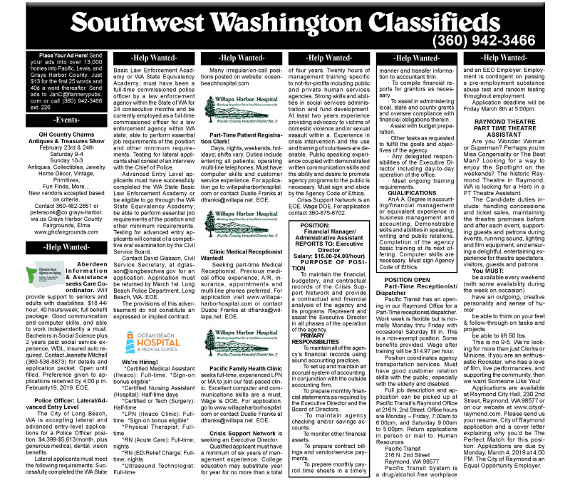 Classifieds 2.13.19
