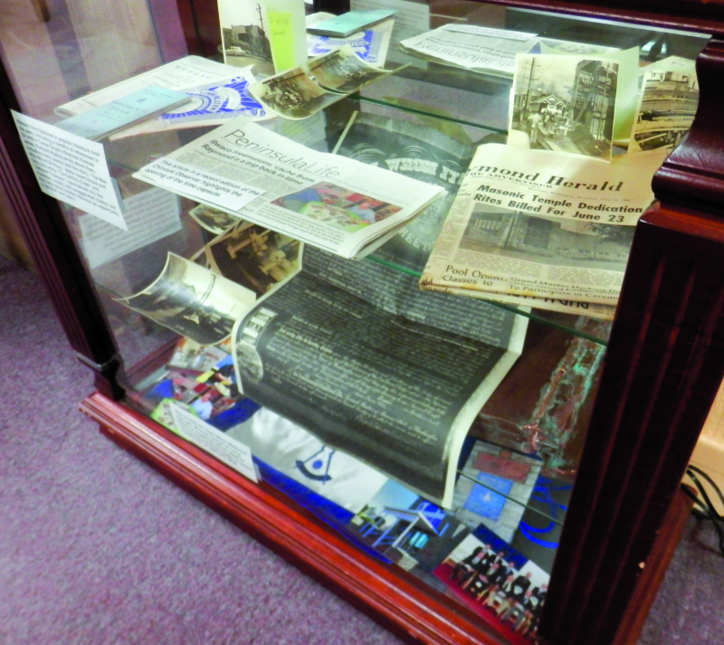 Freemasons time capsule on display in Raymond Library