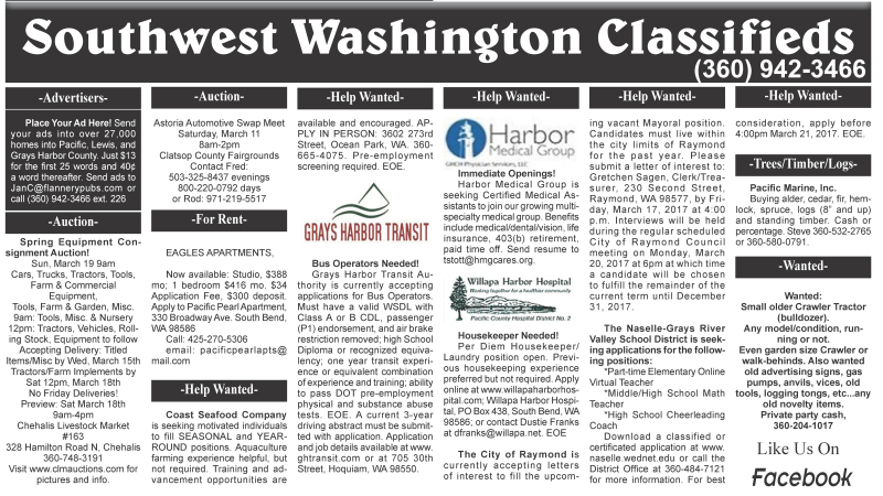 Classifieds 3.8.17