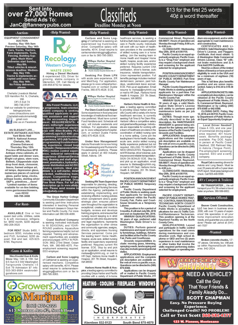 Classifieds 5.11.16