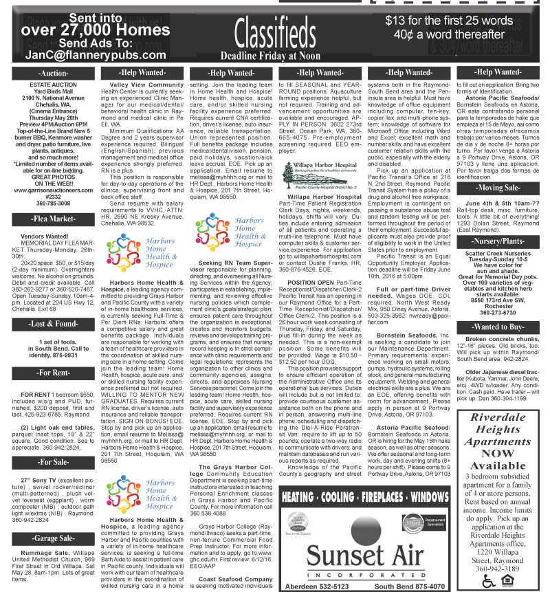 Classifieds 5.25.16