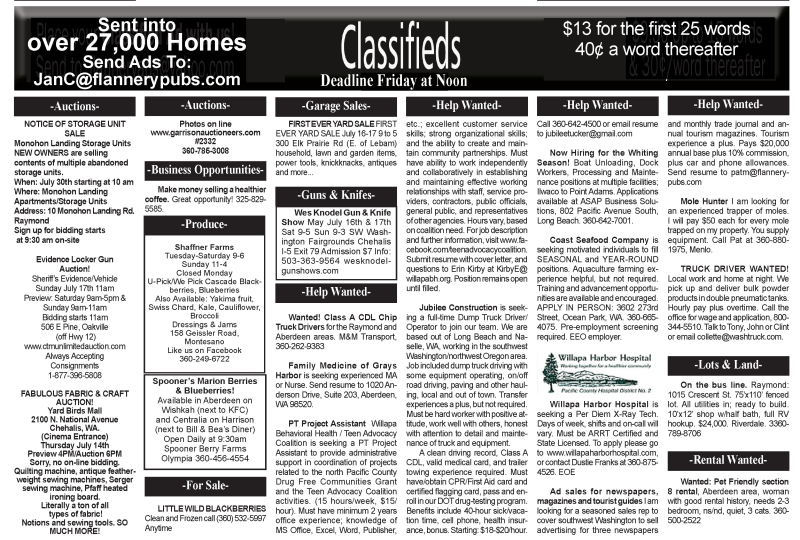 Classifieds 7.13.16