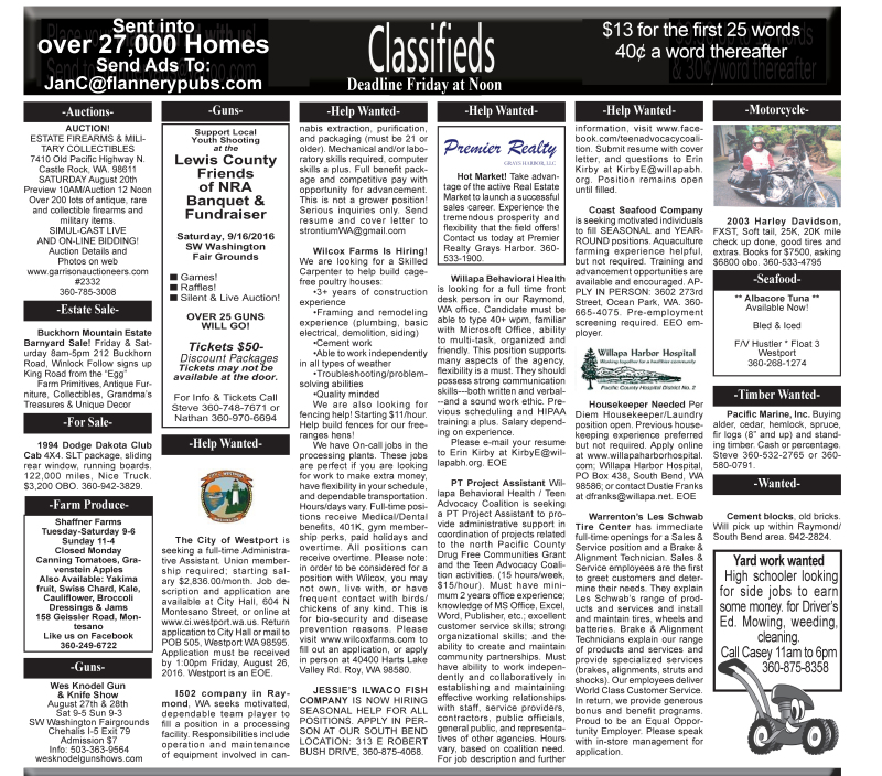 Classifieds 8.17.16