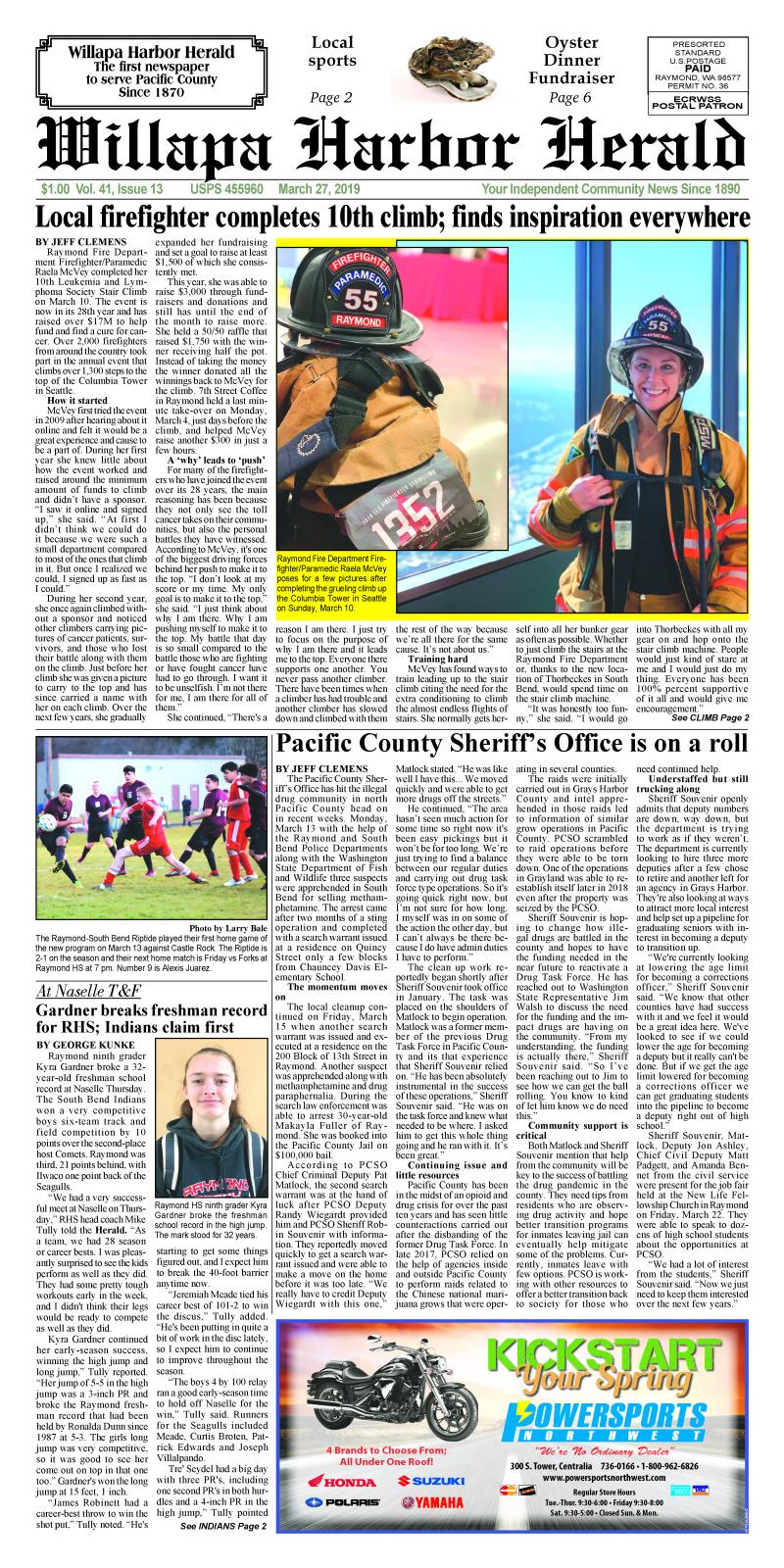 March 27, 2019 Willapa Harbor Herald