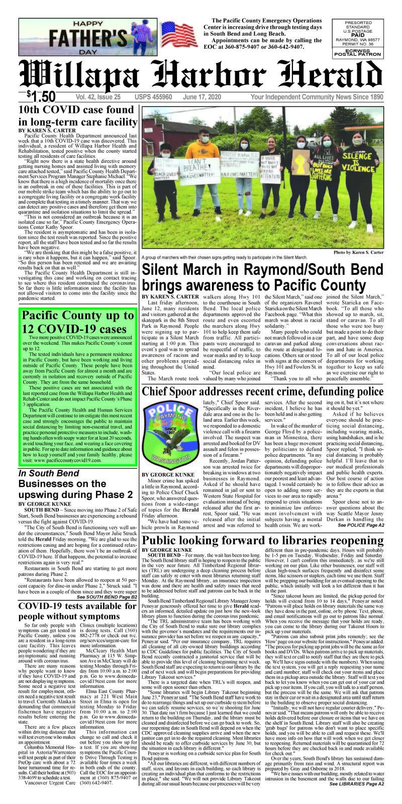 June 17, 2020 Willapa Harbor Herald and Pacific County Press