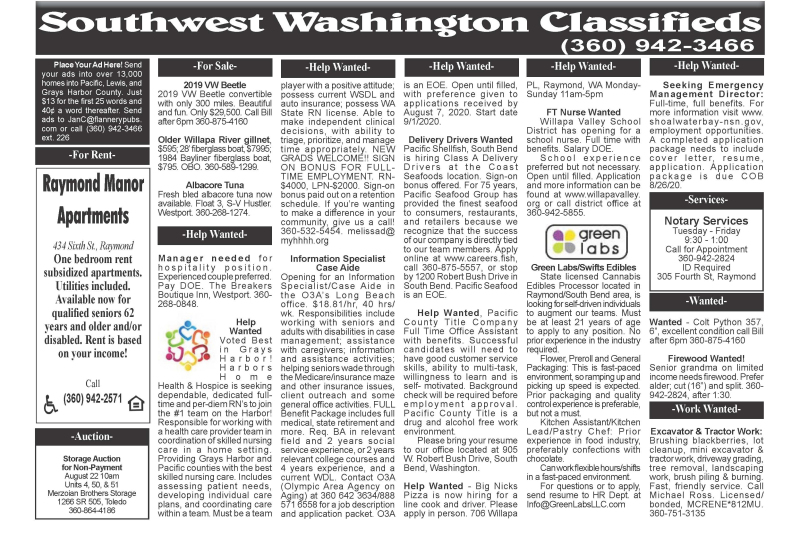 Classifieds 8.5.20