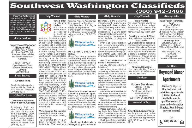 Classifieds 8.26.20