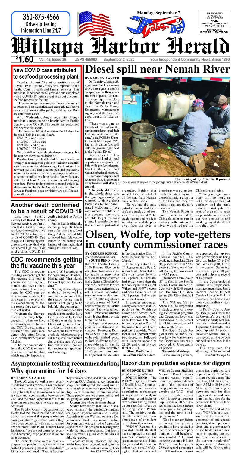 September 2, 2020 Willapa Harbor Herald and Pacific County Press