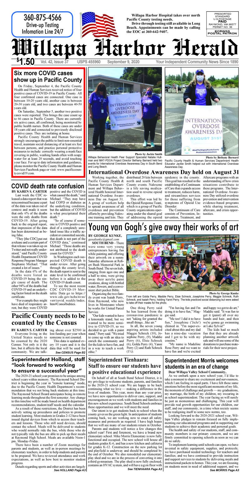 September 9, 2020 Willapa Harbor Herald and Pacific County Press