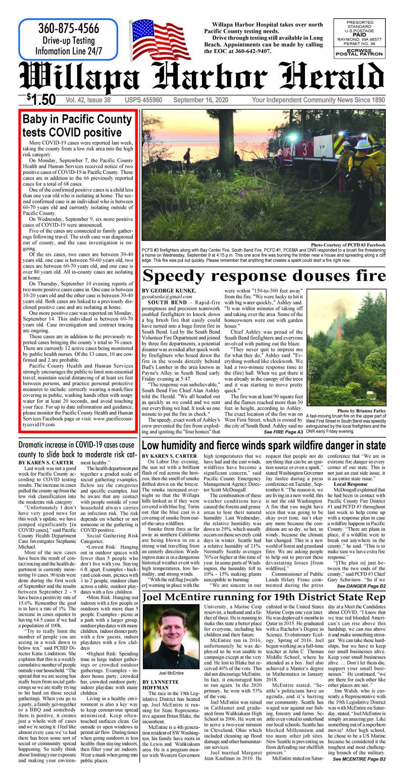 September 16, 2020 Willapa Harbor Herald and Pacific County Press