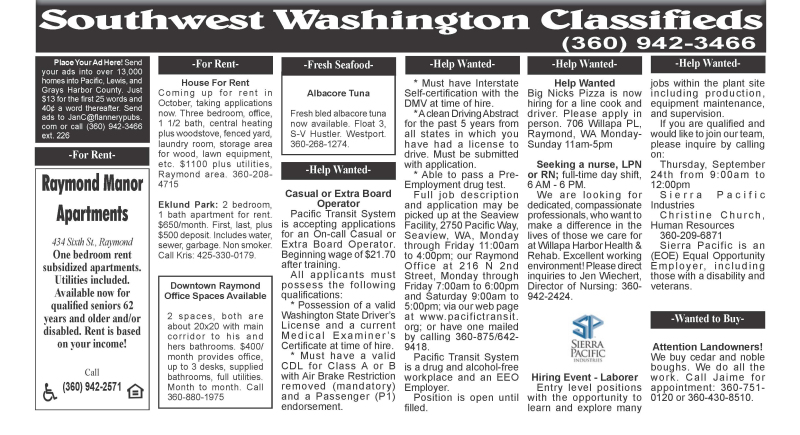 Classifieds 9.16.20