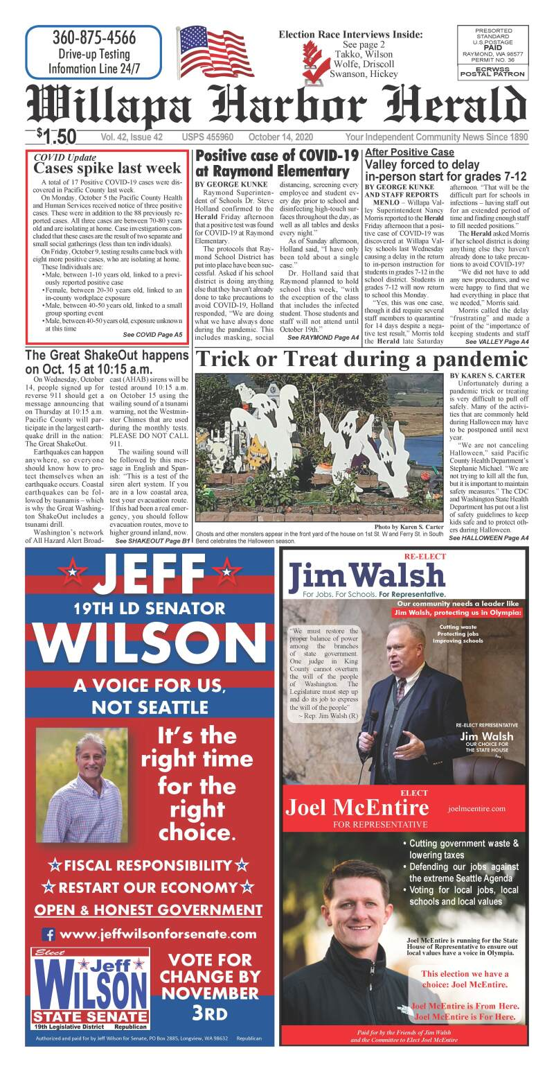 October 14, 2020 Willapa Harbor Herald and Pacific County Press
