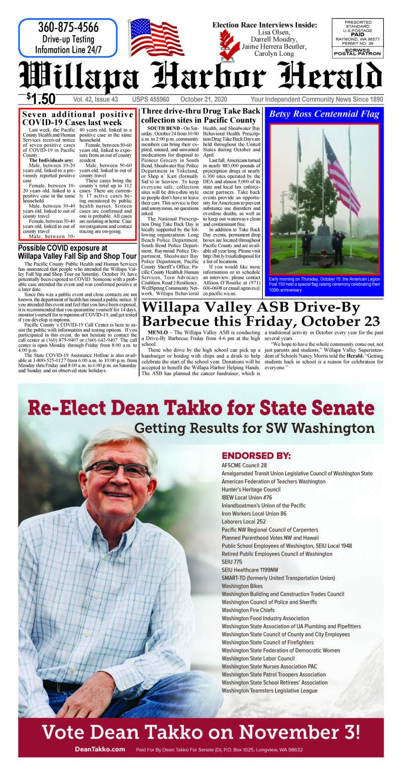 October 21, 2020 Willapa Harbor Herald and Pacific County Press