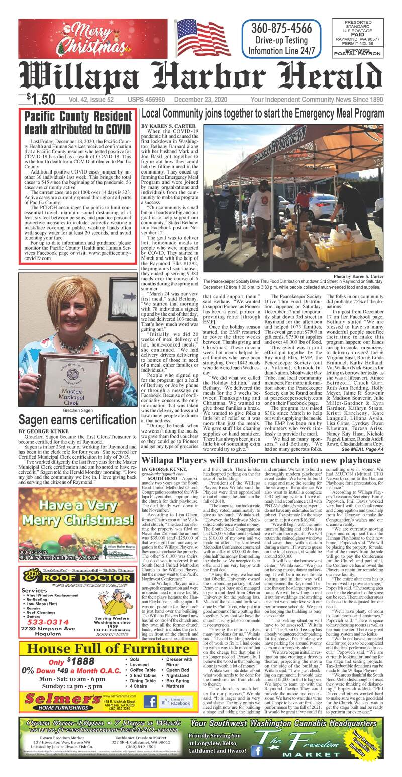 December 23, 2020 Willapa Harbor Herald and Pacific County Press