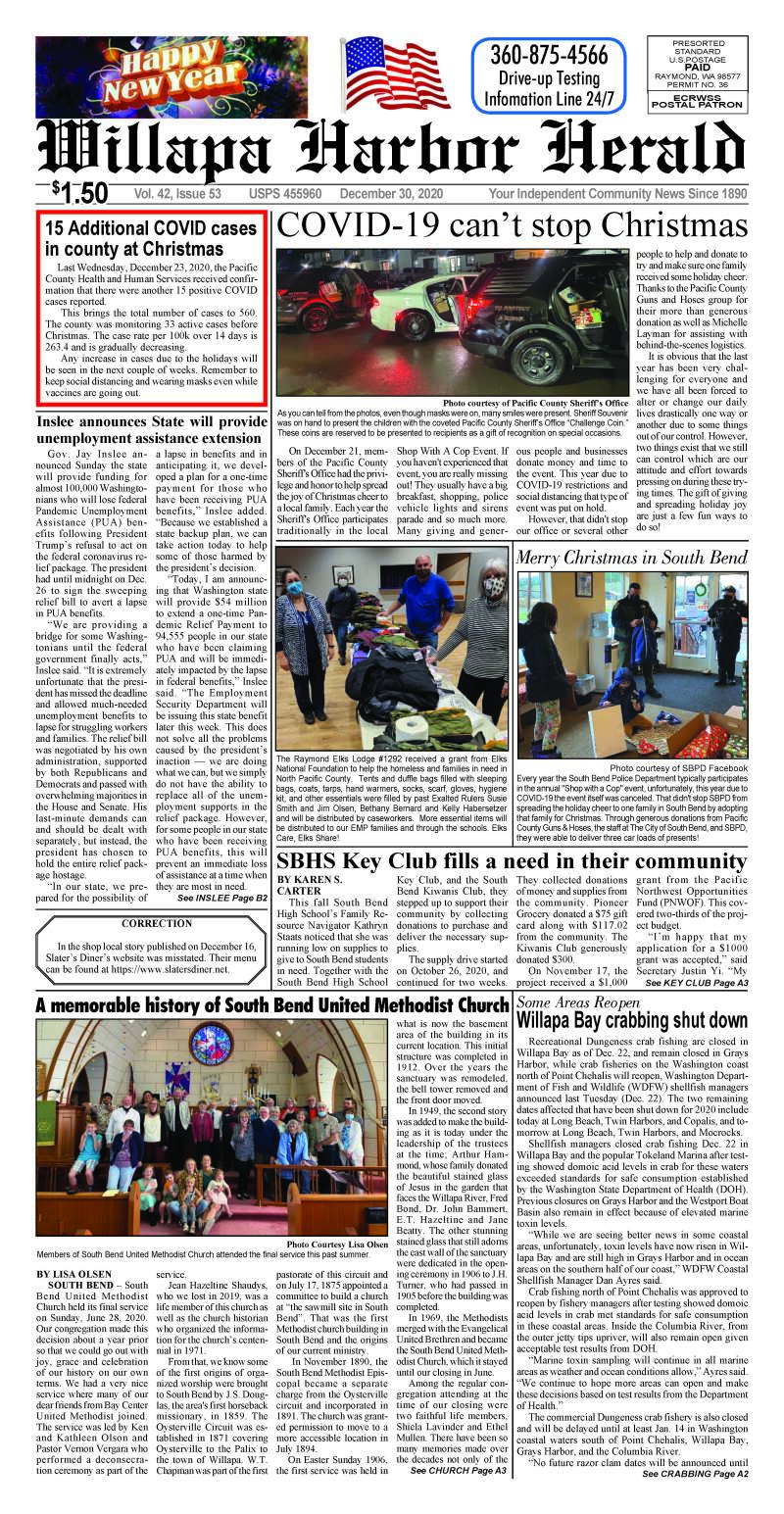 December 30, 2020 Willapa Harbor Herald and Pacific County Press