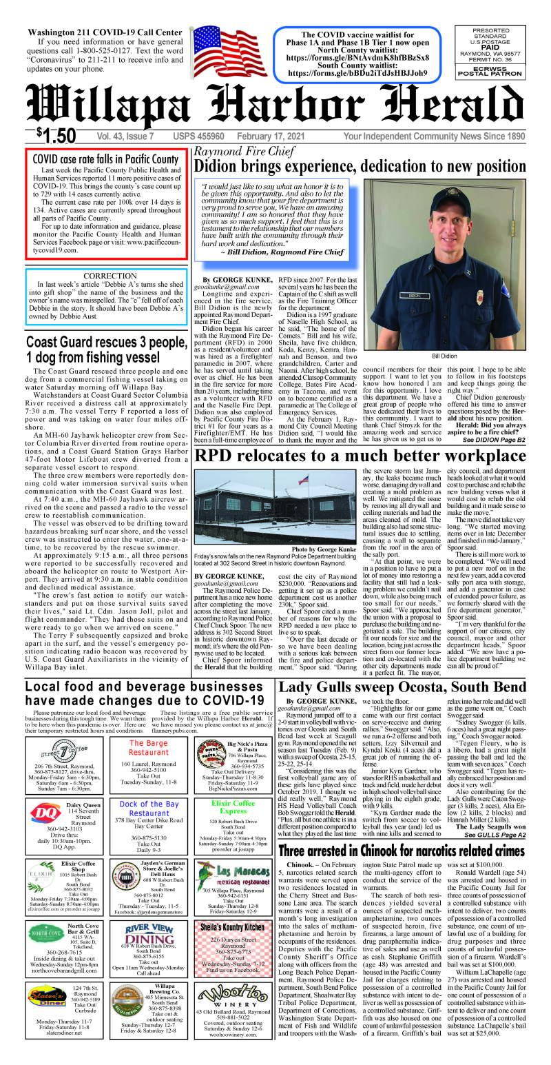 February 17, 2021 Willapa Harbor Herald and Pacific County Press