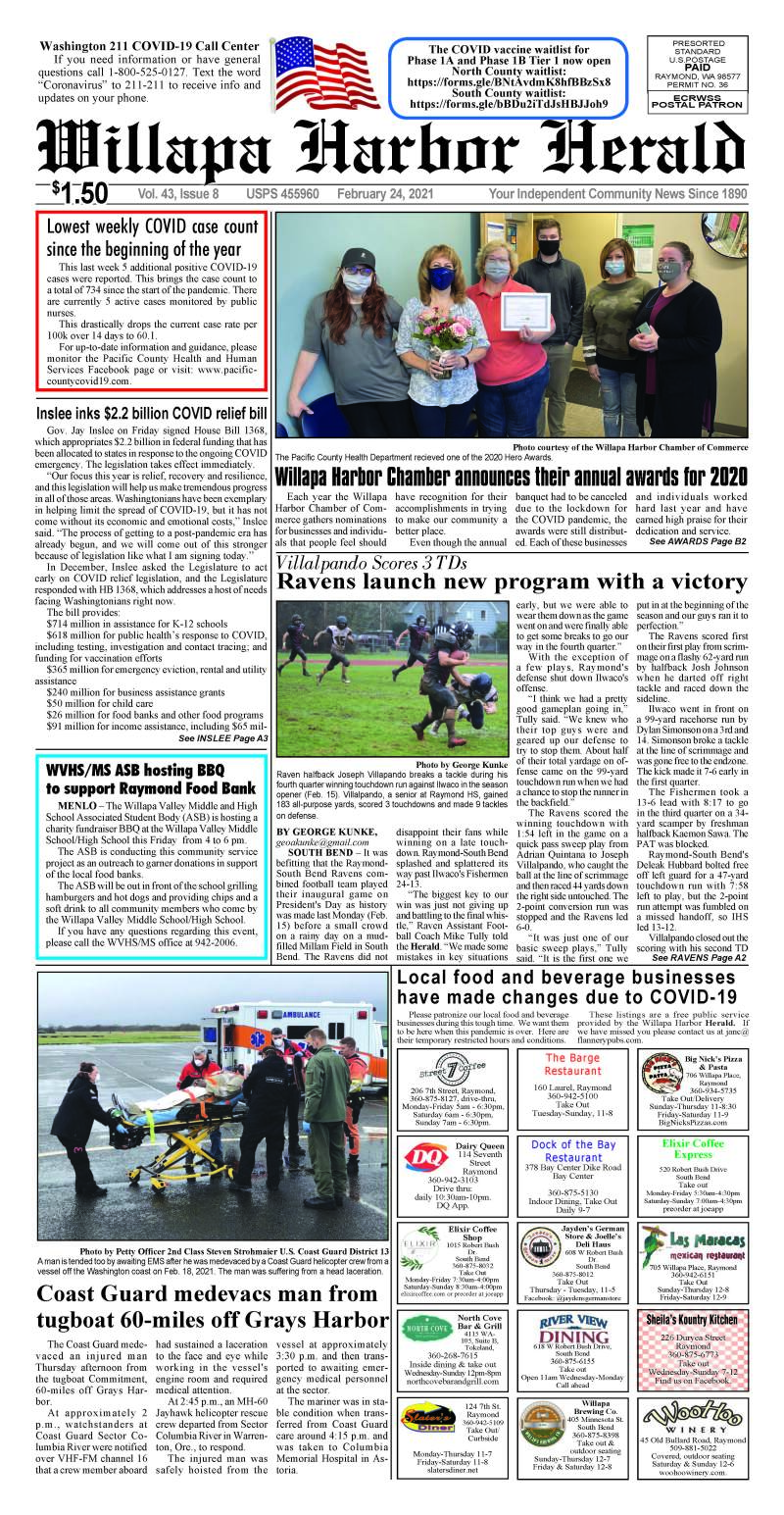February 24, 2021 Willapa Harbor Herald and Pacific County Press