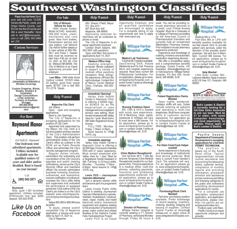 Classifieds 3.31.21