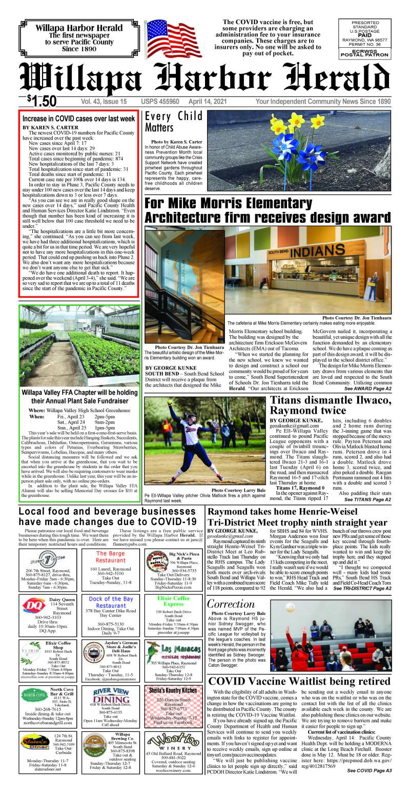April 14, 2021 Willapa Harbor Herald and Pacific County Press