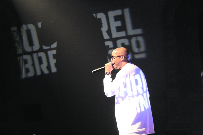 WarrenG during his performance at the Raymond Theater on Friday the 13th.
