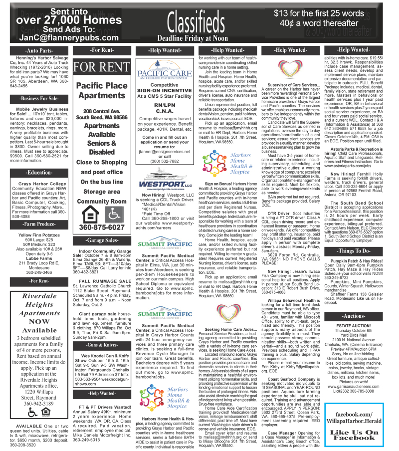 Classifieds 10.5.16