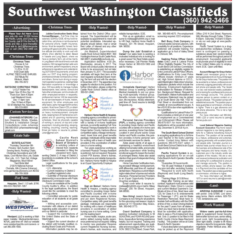classifieds 12.7.16
