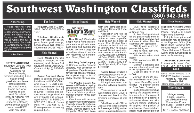 Classifieds 1.18.17