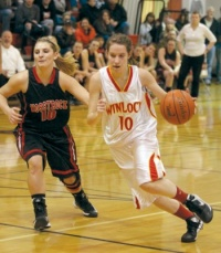 Winlock girls fall twice