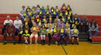 Gradeschoolders get dictionaries from Cowlitz Prairie Grange