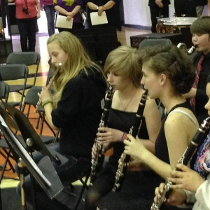 """Raymond Junior High Band performs at """"Massing of Bands"""""""
