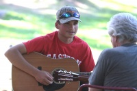 Music lesson the prize for young man's dedication at Pickers' Fest