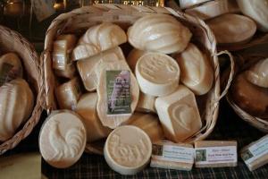 Creamy, fragrant, homemade goat milk soaps from the Morning Star Family Farm