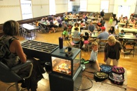 Families pack Community Building for Kid's Bingo