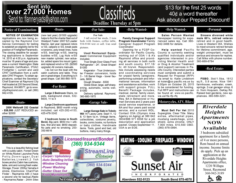 Classifieds 9.9.15