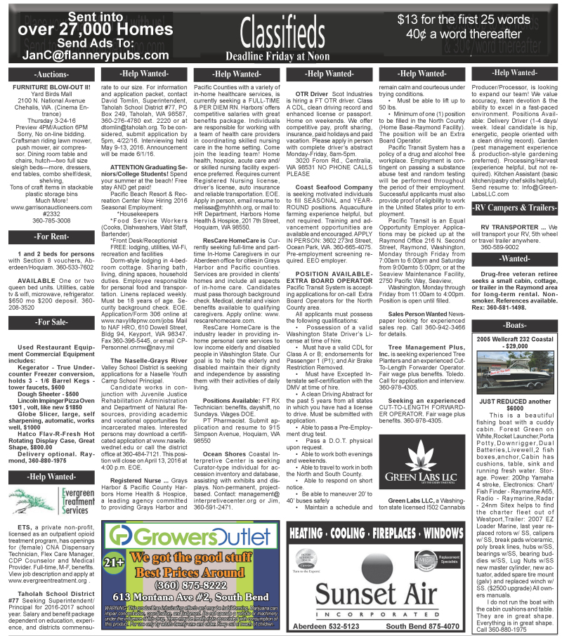 Classifieds 3.23.16