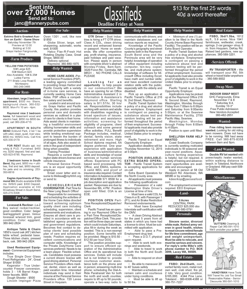 Classifieds 11.4.15