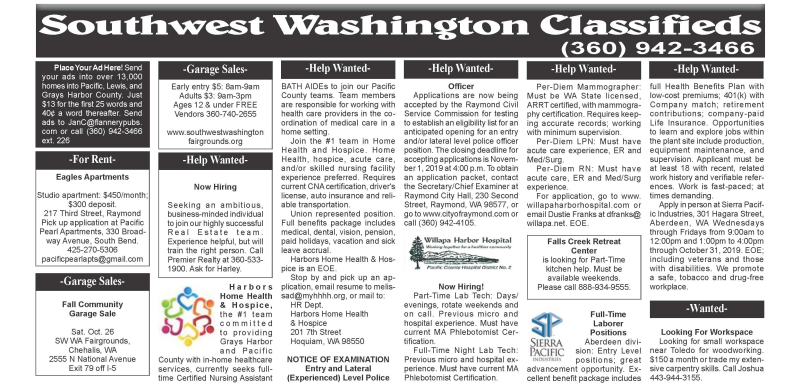 Classifieds 10.16.19