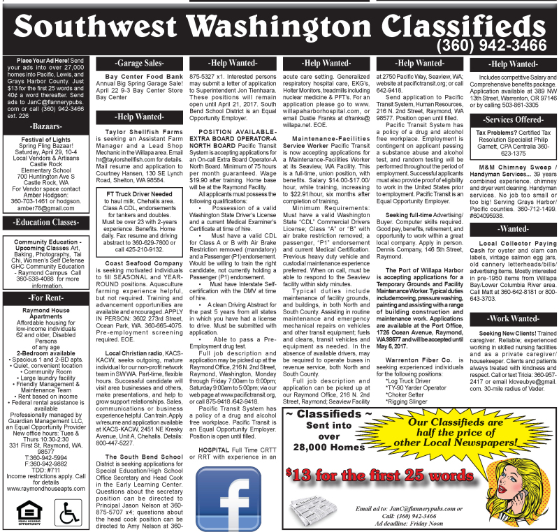 Classifieds 4.19.17