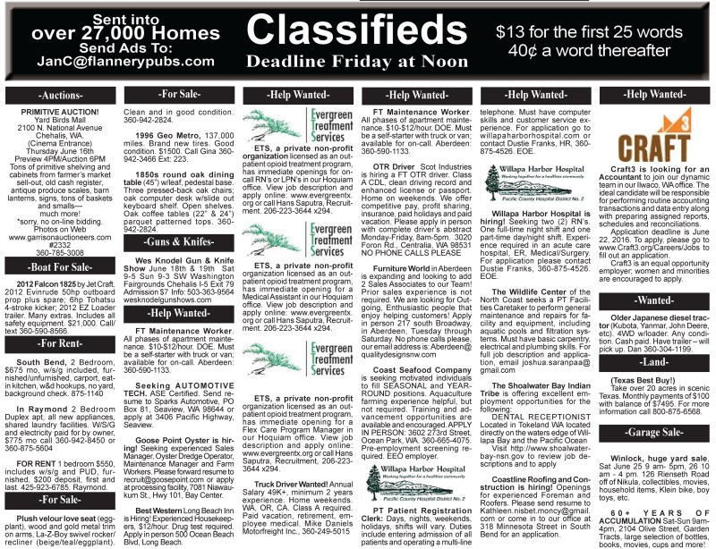 Classifieds 6.15.16
