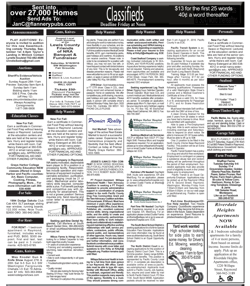 Classifieds 8.24.16