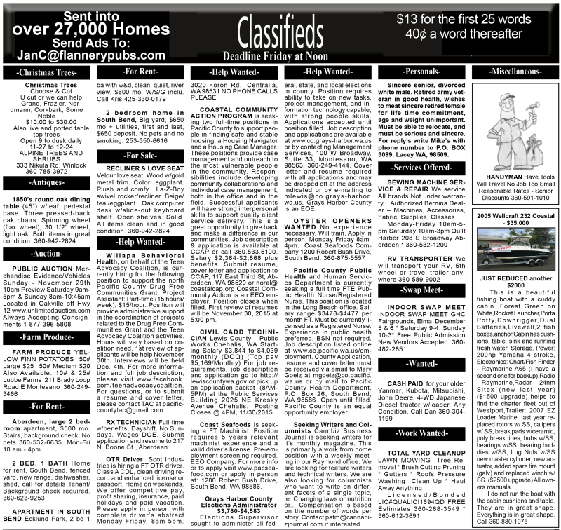 Classifieds 11.25.15