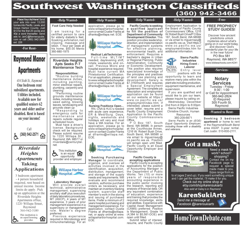 Classifieds 11.25.20