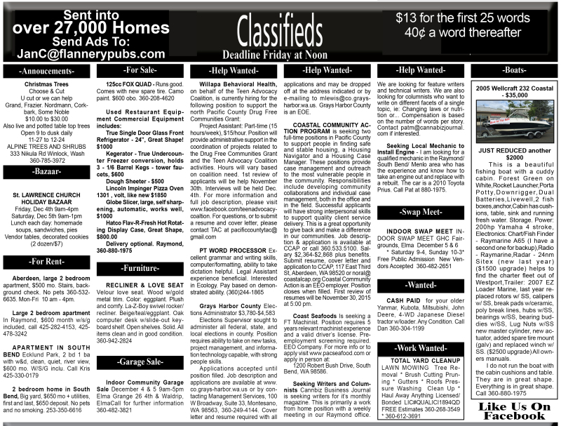 Classifieds 12.2.15