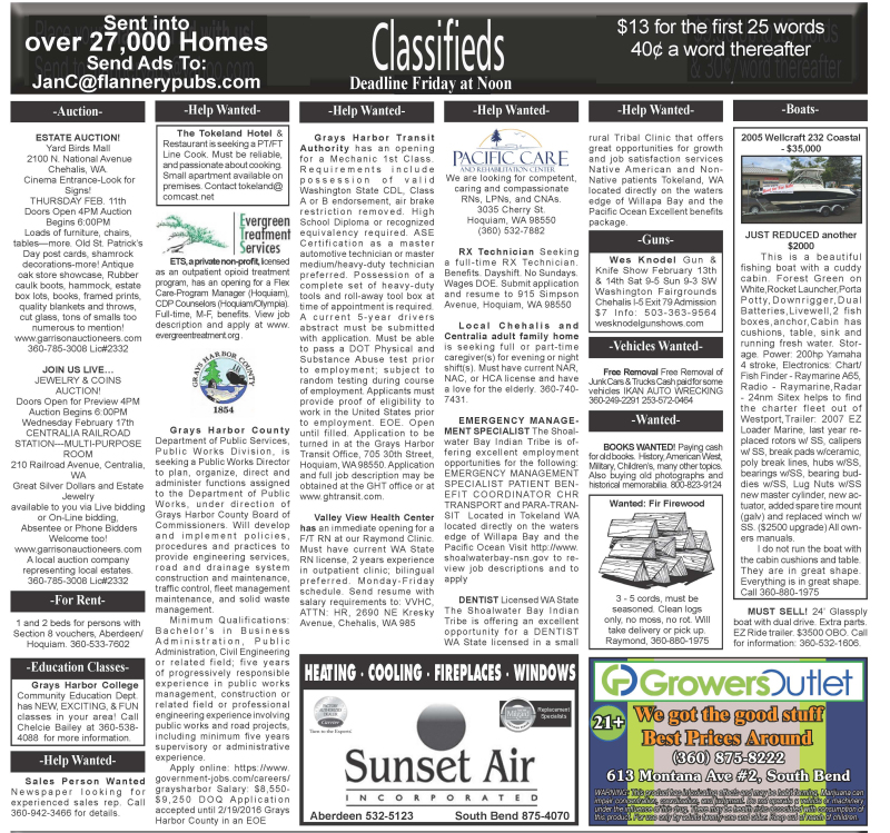Classifieds 2.10.16