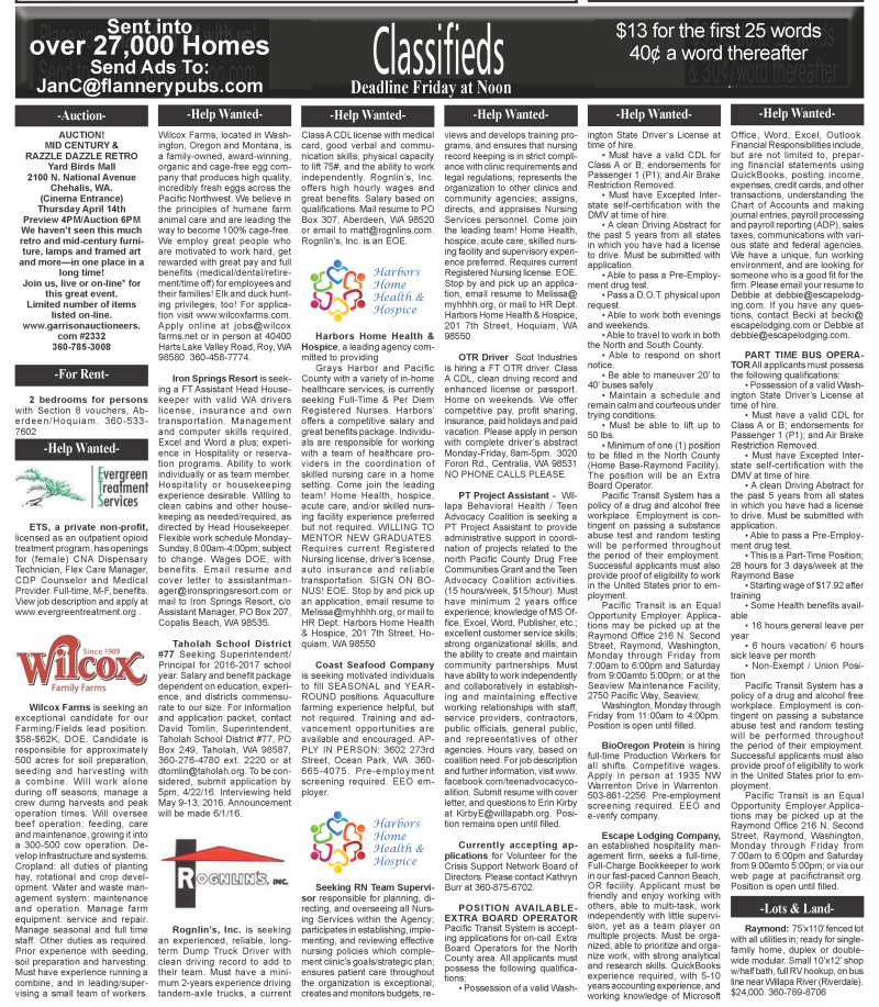Classifieds 4.13.16